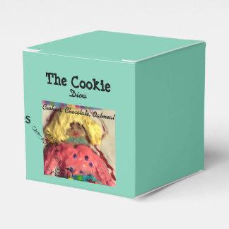 クッキーの花型女性歌手箱 フェイバーボックス