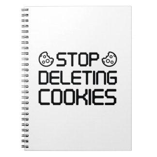 クッキーを削除することを止めて下さい ノートブック