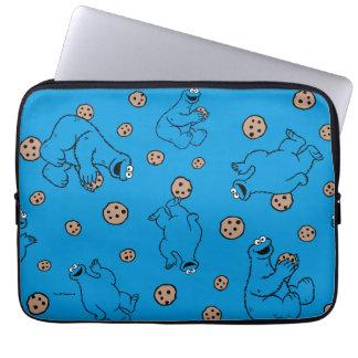 クッキーモンスターおよびクッキーの青パターン ラップトップスリーブ