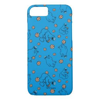クッキーモンスターおよびクッキーの青パターン iPhone 8/7ケース