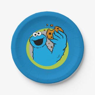 クッキーモンスターのイメージ ペーパープレート