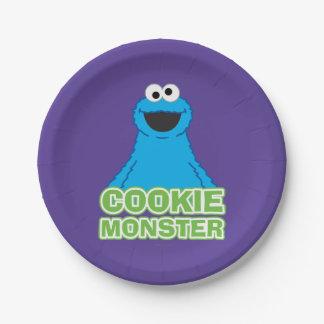 クッキーモンスターのキャラクターの芸術 ペーパープレート