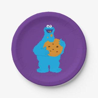 クッキーモンスターのグラフィック ペーパープレート