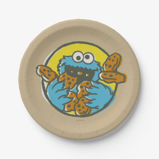クッキーモンスターのレトロ ペーパープレート