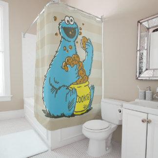 クッキーモンスターのヴィンテージ シャワーカーテン