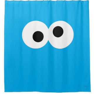 クッキーモンスターの大きい顔 シャワーカーテン