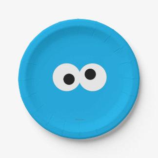 クッキーモンスターの大きい顔 ペーパープレート