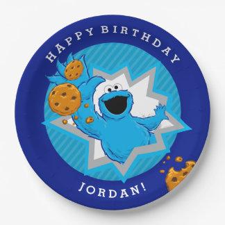 クッキーモンスターの誕生日 ペーパープレート