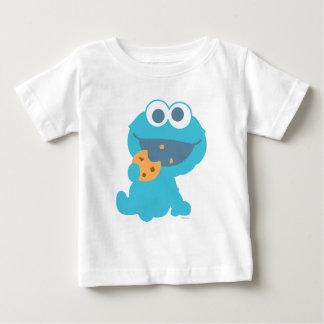 クッキーモンスターの食べ物のクッキー ベビーTシャツ