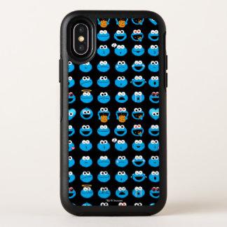 クッキーモンスターのEmojiパターン オッターボックスシンメトリー iPhone X ケース