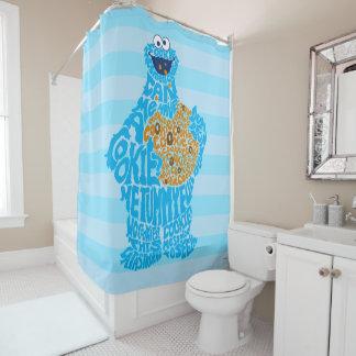 クッキーモンスターパターン盛り土 シャワーカーテン