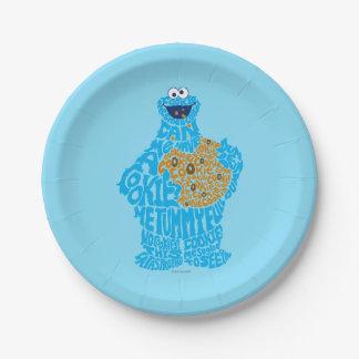 クッキーモンスターパターン盛り土 ペーパープレート
