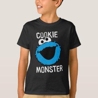 クッキーモンスターパターン顔 Tシャツ