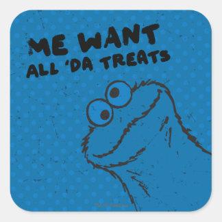 クッキーモンスター-すべての「Daの御馳走! スクエアシール