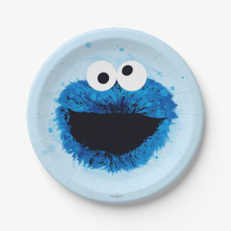 クッキーモンスター|の水彩画の傾向 ペーパープレート