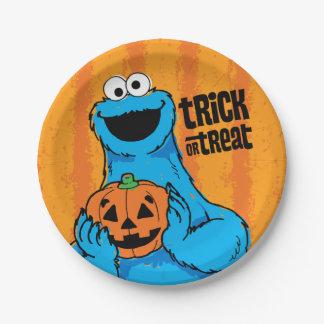 クッキーモンスター-トリック・オア・トリート ペーパープレート