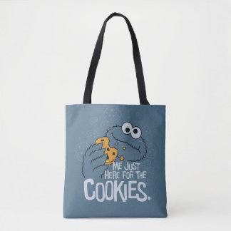 クッキーモンスター 私ちょうどここにクッキーのために トートバッグ