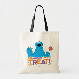 クッキーモンスター-私は御馳走を常に選びます トートバッグ