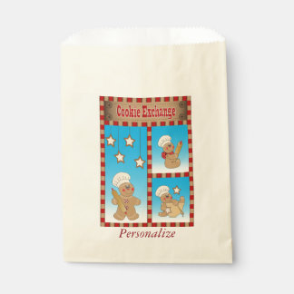 クッキー交換ジンジャーブレッドマンのパン屋 フェイバーバッグ