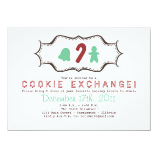 クッキー交換招待状 カード