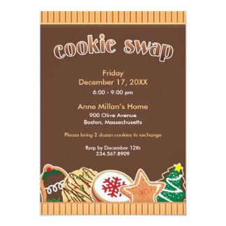 クッキー交換/交換休日の平らな招待状 カード