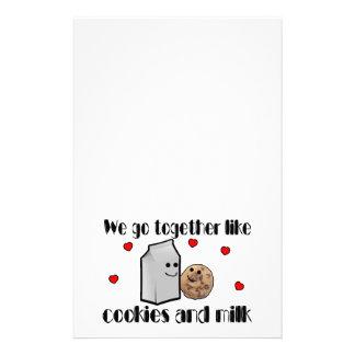クッキー及びミルク愛 便箋