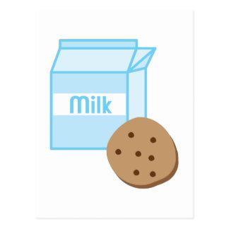 クッキー及びミルク ポストカード