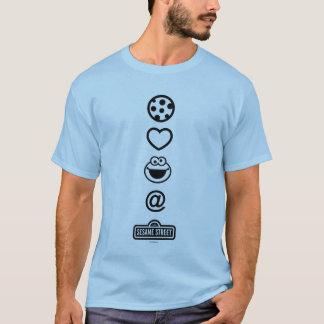 クッキー愛クッキーモンスター Tシャツ