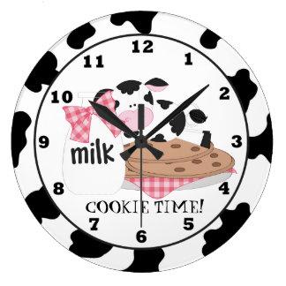 クッキー牛漫画の柱時計 ラージ壁時計