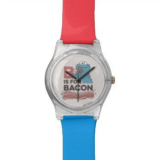 クッキーMonsterBはベーコンのためです 腕時計
