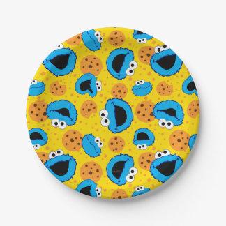 クッキーMonterおよびクッキーパターン ペーパープレート