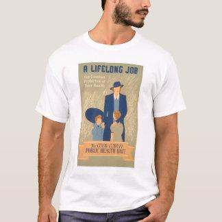 クック郡の公衆衛生1938 WPA Tシャツ