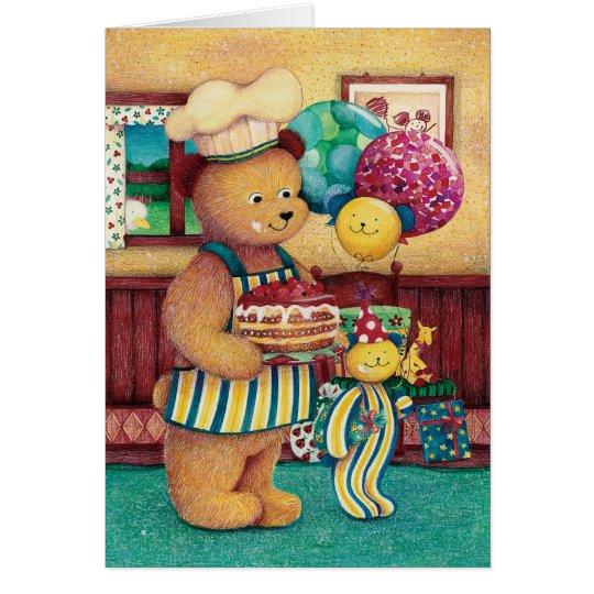 クマのバースデーカード(子供向け) カード