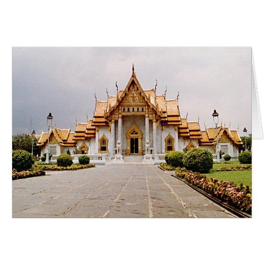 クメール王国のライオンカード上の金ゴールドの大理石の寺院 グリーティングカード