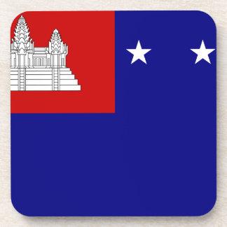 クメール王国共和国(សាធារណរដ្ឋខ្មែរ)の旗 コースター