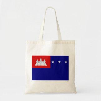 クメール王国共和国(សាធារណរដ្ឋខ្មែរ)の旗 トートバッグ