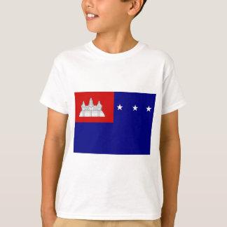 クメール王国共和国(សាធារណរដ្ឋខ្មែរ)の旗 Tシャツ