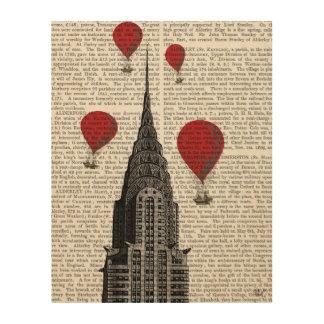 クライスラの建物および猛烈な気球 ウッドウォールアート