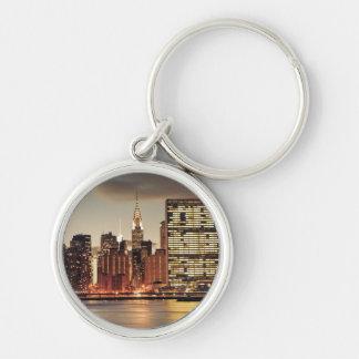 クライスラの建物およびNYCのスカイライン キーホルダー
