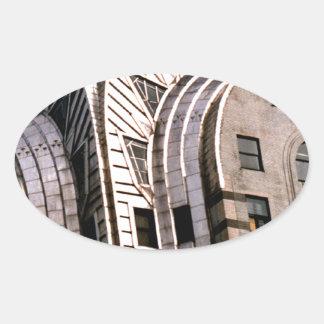 クライスラの建物: 眺めの上で閉めて下さい 楕円形シール