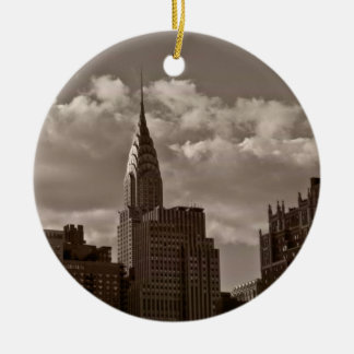 クライスラ建物およびニューヨークのスカイライン セラミックオーナメント