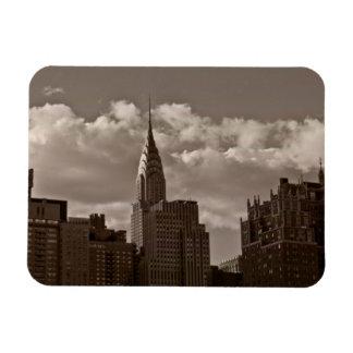 クライスラ建物およびニューヨークのスカイライン マグネット