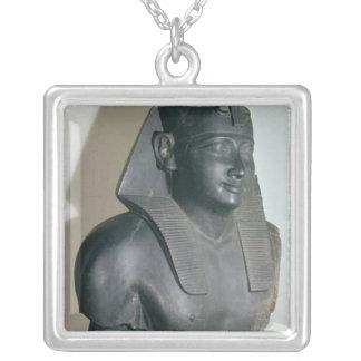 クラウディオス・プトレマイオスのエジプトのスタイルの彫像の片I シルバープレートネックレス