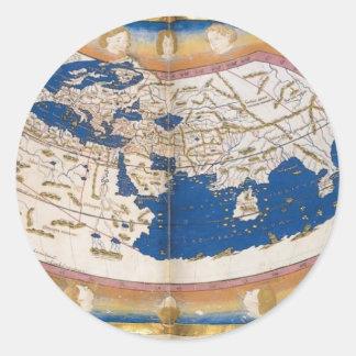 クラウディオス・プトレマイオスの世界地図 ラウンドシール