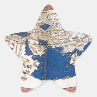 クラウディオス・プトレマイオスの世界地図 星シール