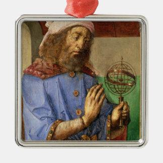 クラウディオス・プトレマイオス、c.1475のポートレート メタルオーナメント