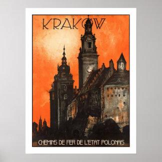 クラクフのヴィンテージ旅行 ポスター