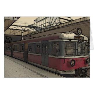 クラクフの風変わりで古風な列車 カード
