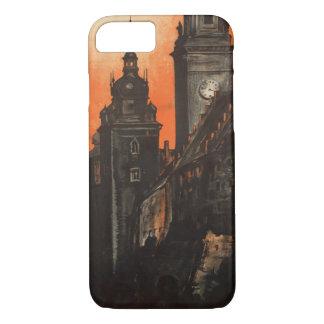 クラクフポーランド-ヴィンテージのポーランド人旅行ポスター iPhone 8/7ケース