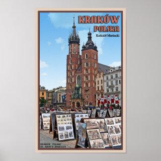 クラクフ- St Marysのバシリカ会堂 ポスター